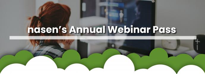 Annual Webinar pass advert banner