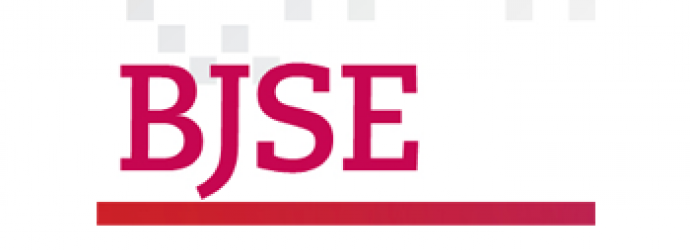 BJSE Letters in red with a red underline