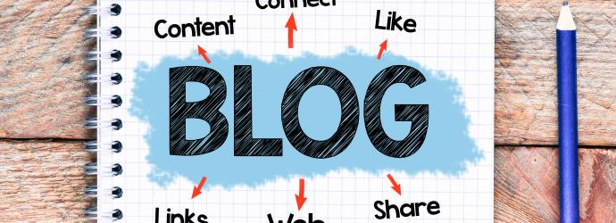BLOG wirtten on a pad