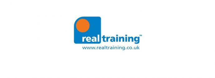 Image shows Real Training logo with web address www.realtraining.co.uk