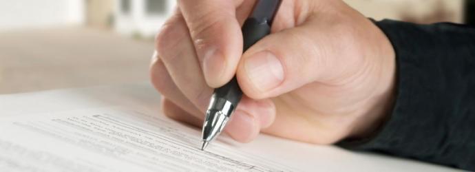 Photo of hand writing