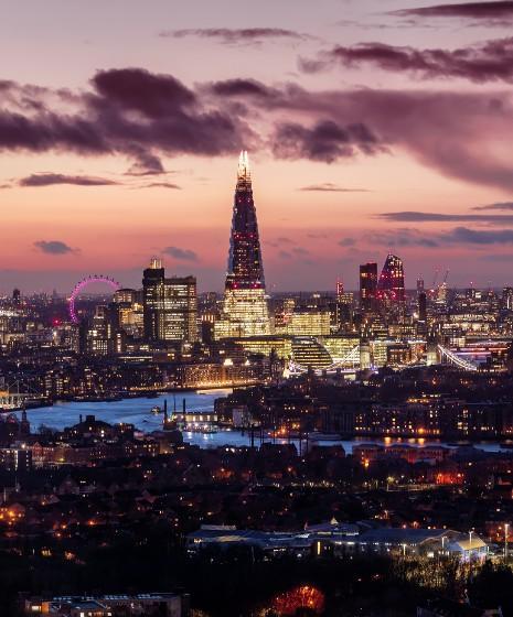 London Skyline at night (ISEC 2021)