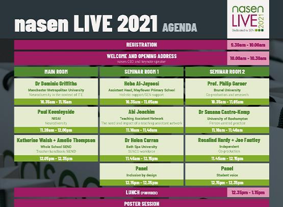nasen live 2021 agenda image